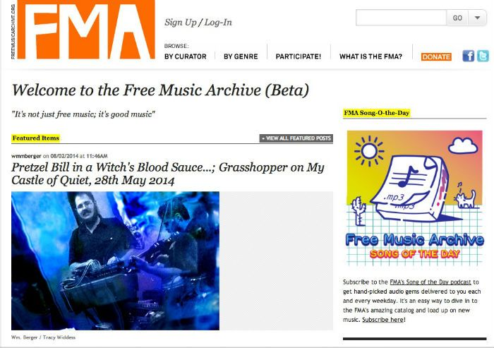 freemusicarchive free music download sites