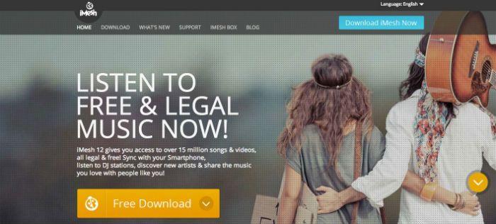 imesh free music download sites