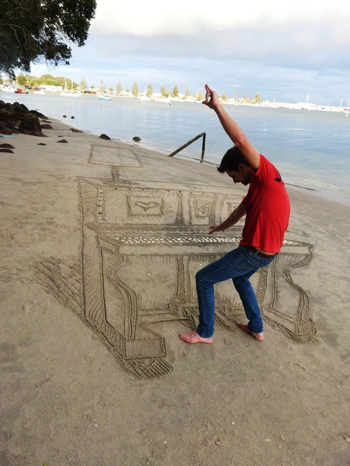 3d sand art piano new zealand