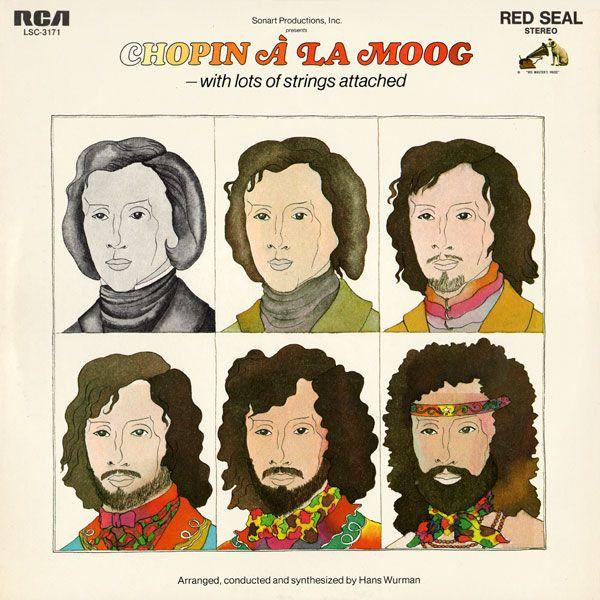 'Chopin a la Moog' by Hans Wurman, 1970. Cover artwork by Barbara Nessim