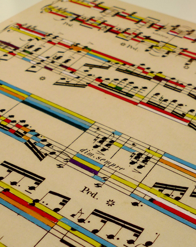 21 most creative sheet music artworks cmuse sheet music in colour gumiabroncs Gallery