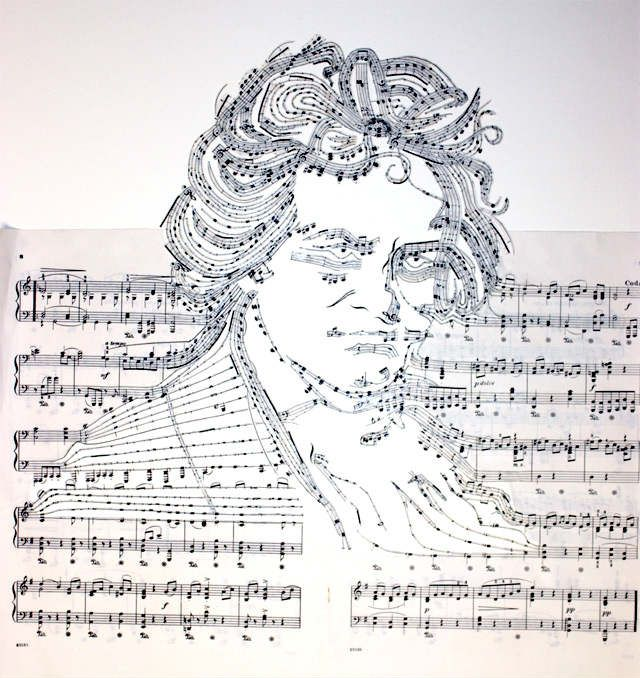 21 most creative sheet music artworks cmuse for The craft of musical composition
