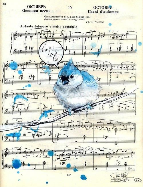 21 most creative sheet music artworks cmuse 8 blue bird gumiabroncs Gallery
