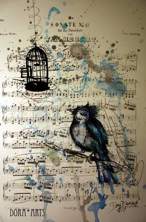 21 most creative sheet music artworks cmuse dora bansagi is a young artist from salzburg austria her works represent a mix of realist and surrealist drawings using a traditional colored pencil gumiabroncs Gallery