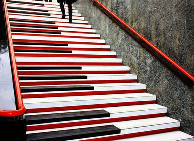 piano stairs milan