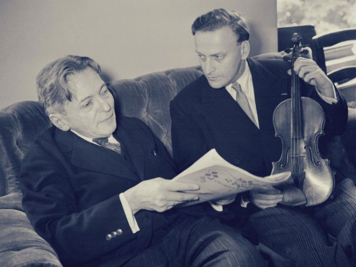 George Enescu and Yehudi Menuhin