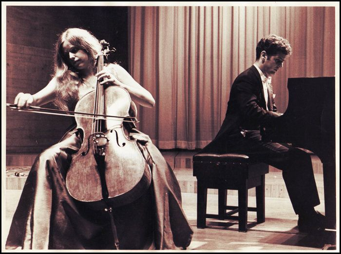 Jacqueline du Pré & Daniel Barenboim at the Queen Elizabeth Hall on August 13, 1967