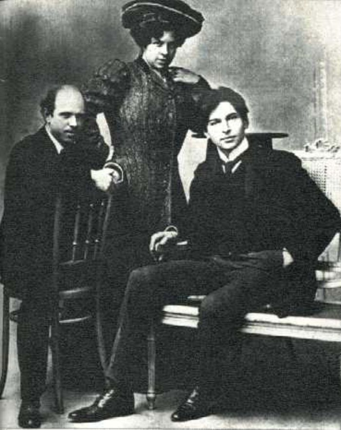 With Pablo Casals and the professional singer Marie Gai (Bordeaux 1904)