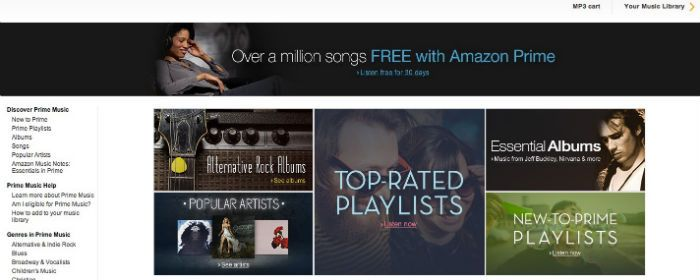 Amazon Prime Free Music Download Sites