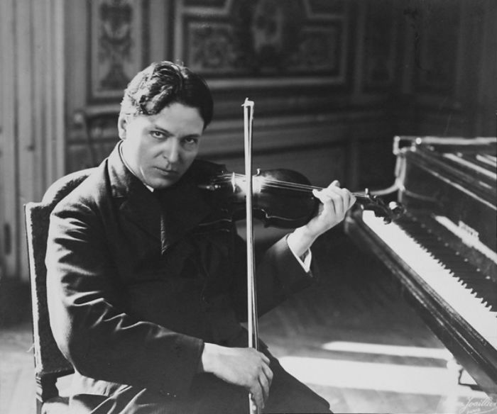 George Enescu playing Violin
