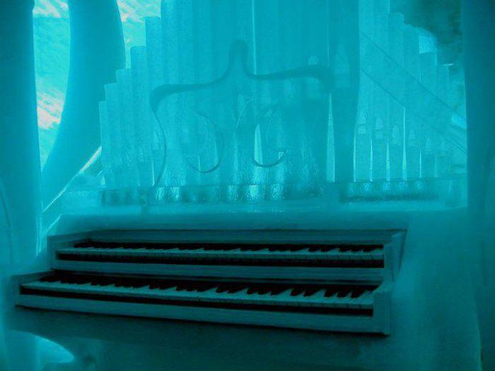Ice organ unusual music instrument