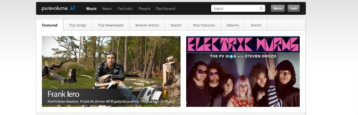 purevolume free music download sites