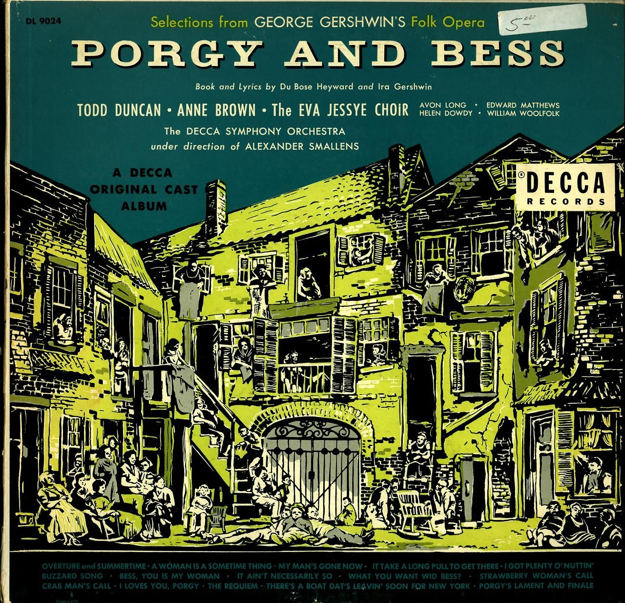 Gershwin- Selections from Porgy and Bess Decca Symphony Orchestra, Alexander Smallens, cond.  Decca DL 9024 (1955)