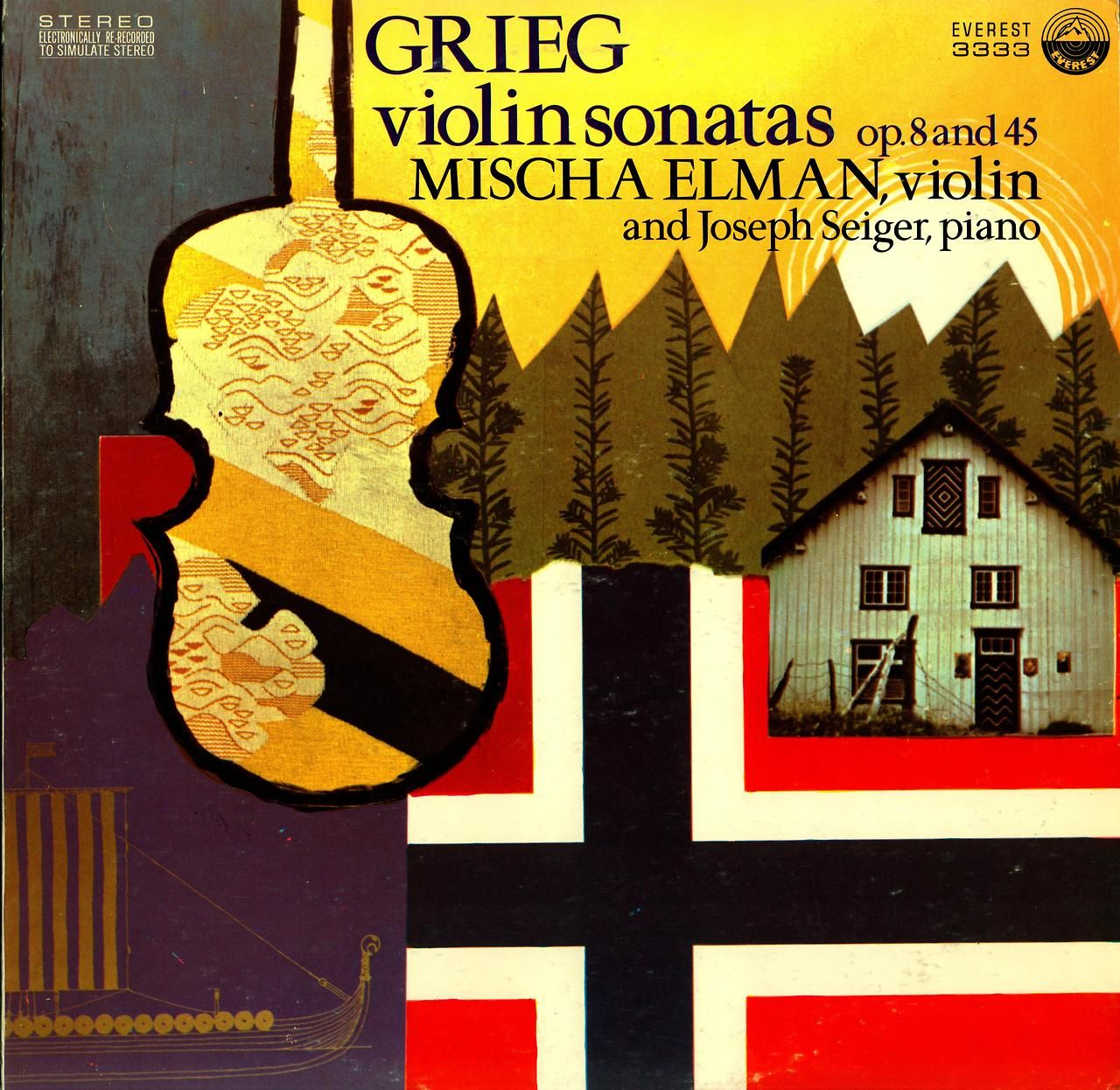 Grieg- Violin Sonatas Mischa Elman, violin:Joseph Seiger, piano Everest 3333 (1971)