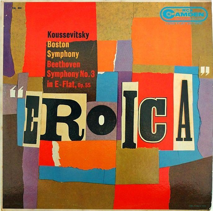 Ivan Chermayeff, album artwork, Koussevitsky- Eroica, 1959. RCA Camden