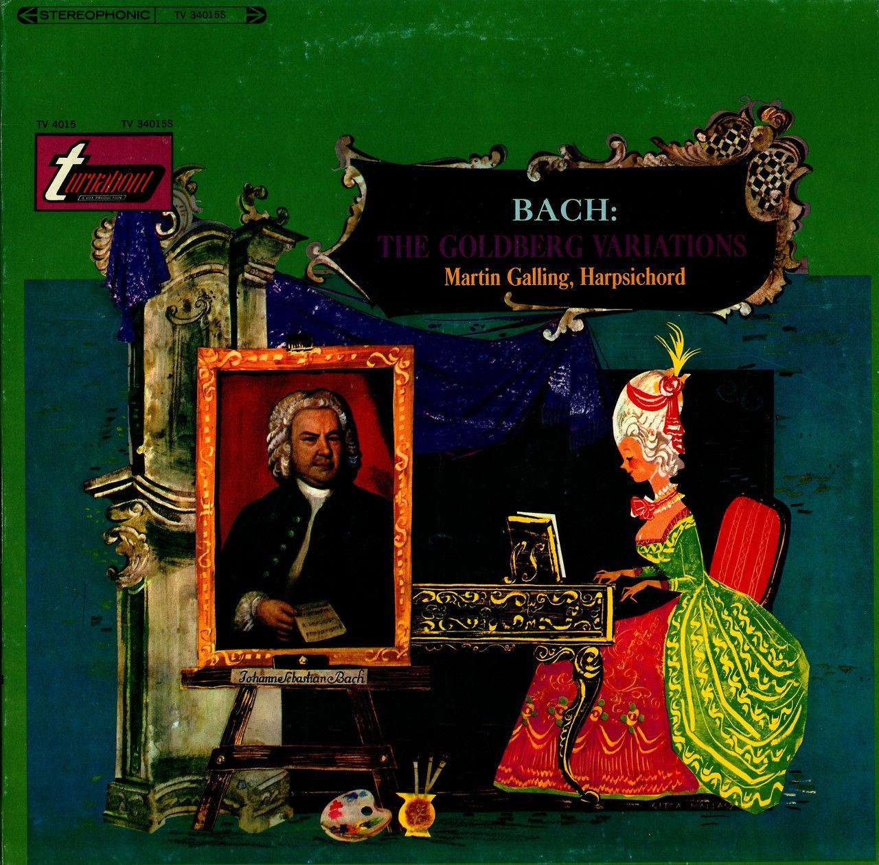 J.S. Bach- The Goldberg Variations   Martin Galling, harpsichord  Turnabout (Vox) TV 34015S (1966)  Album Art by Gitta Mallasz