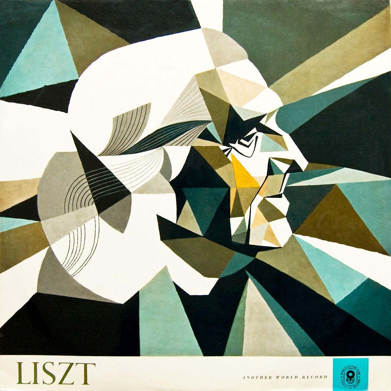 Lance Stirling, cover design for Liszt, Piano Sonata in B Minor. 1960s. World Record Club, Australia