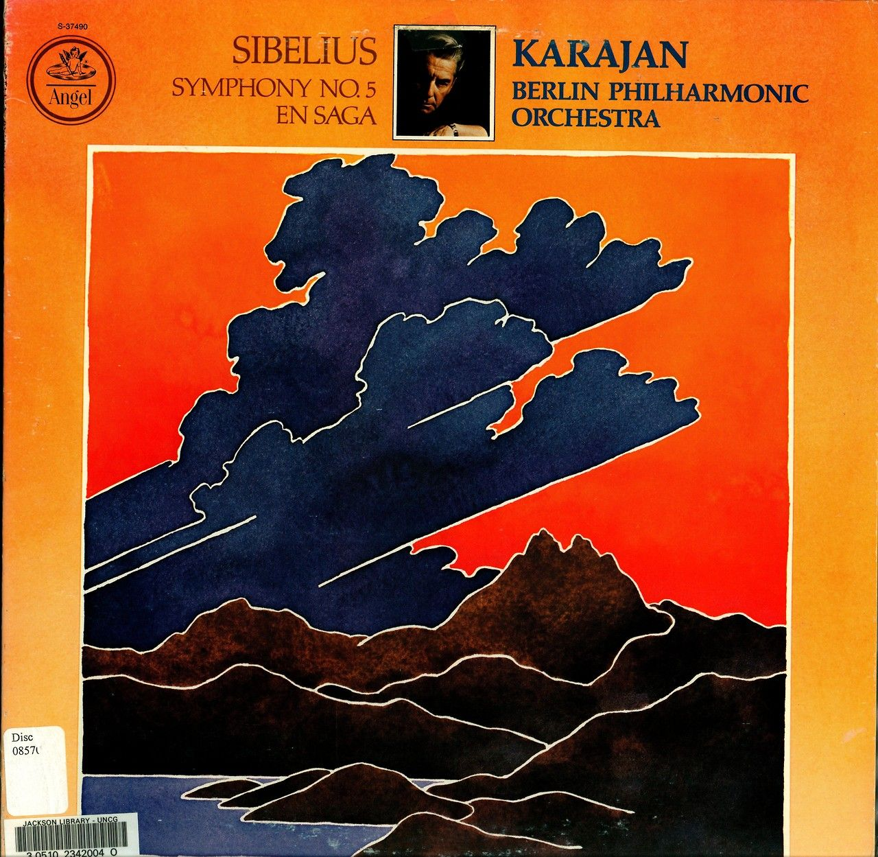 Sibelius- Symphony No. 5:En Saga Berlin Philharmonic Orchestra Herbert von Karajan, cond.