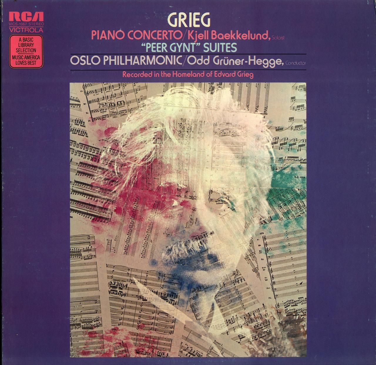"Grieg Piano Concerto Kjell Baekkelund ""Peer Gynt"" Suites Featuring Oslo Philharmonic conducted by Odd Gruner-Hehhe."